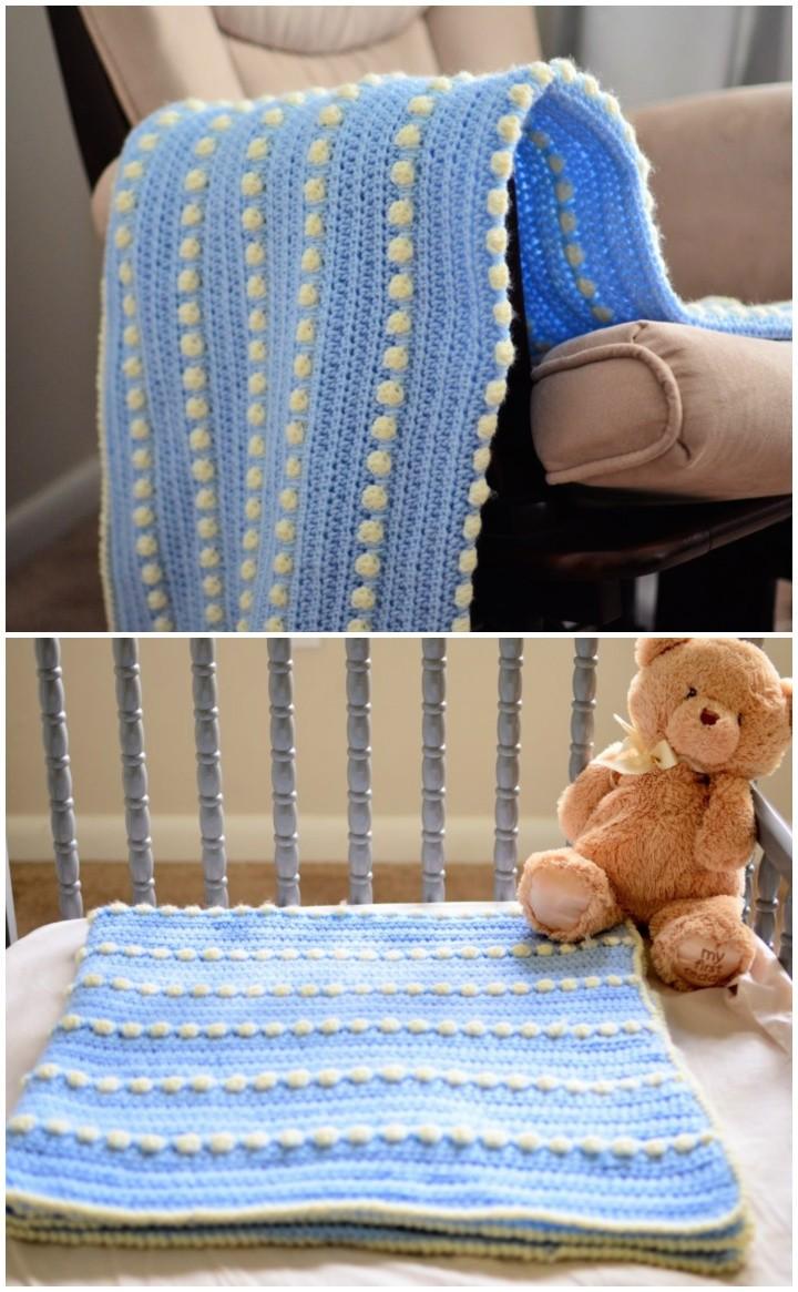 Baby Feet Blanket – Free Crochet Pattern