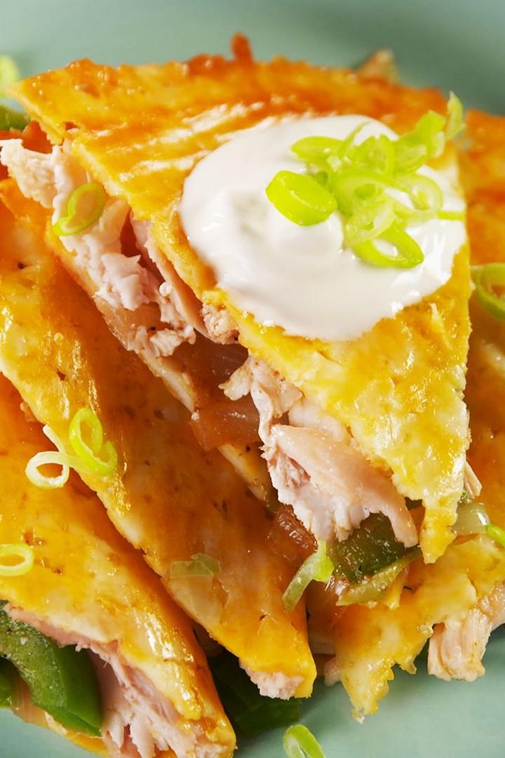 Chicken Keto Quesadillas