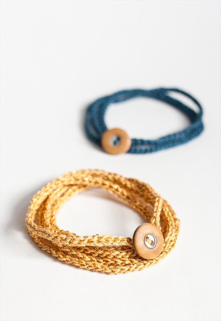 Cute Crochet Wrap Bracelet Last Minute Valentines Day Gift Idea