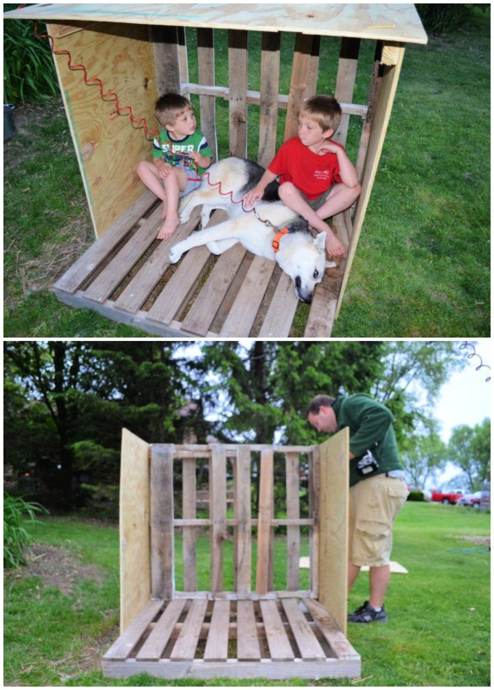 DIY Dog House from Recycled Wooden Pallets Tutorial