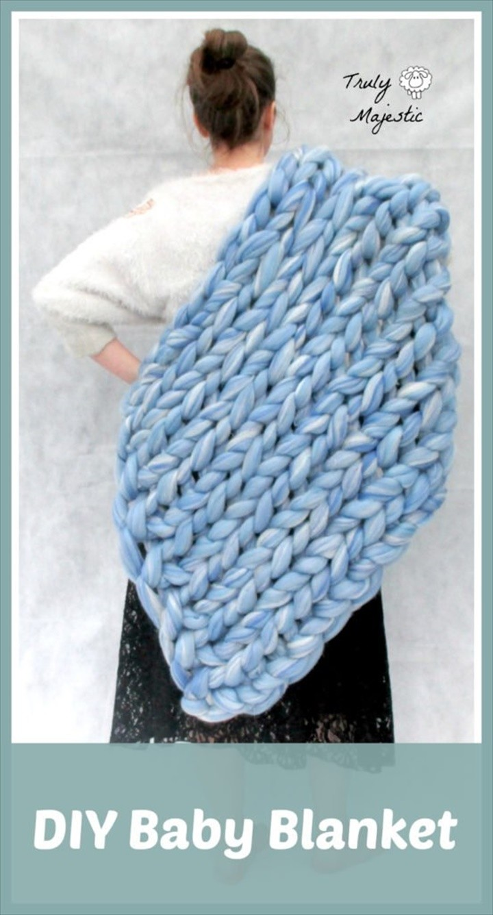 DIY Knitted Baby Blanket Arm Knitting Hand Knitting