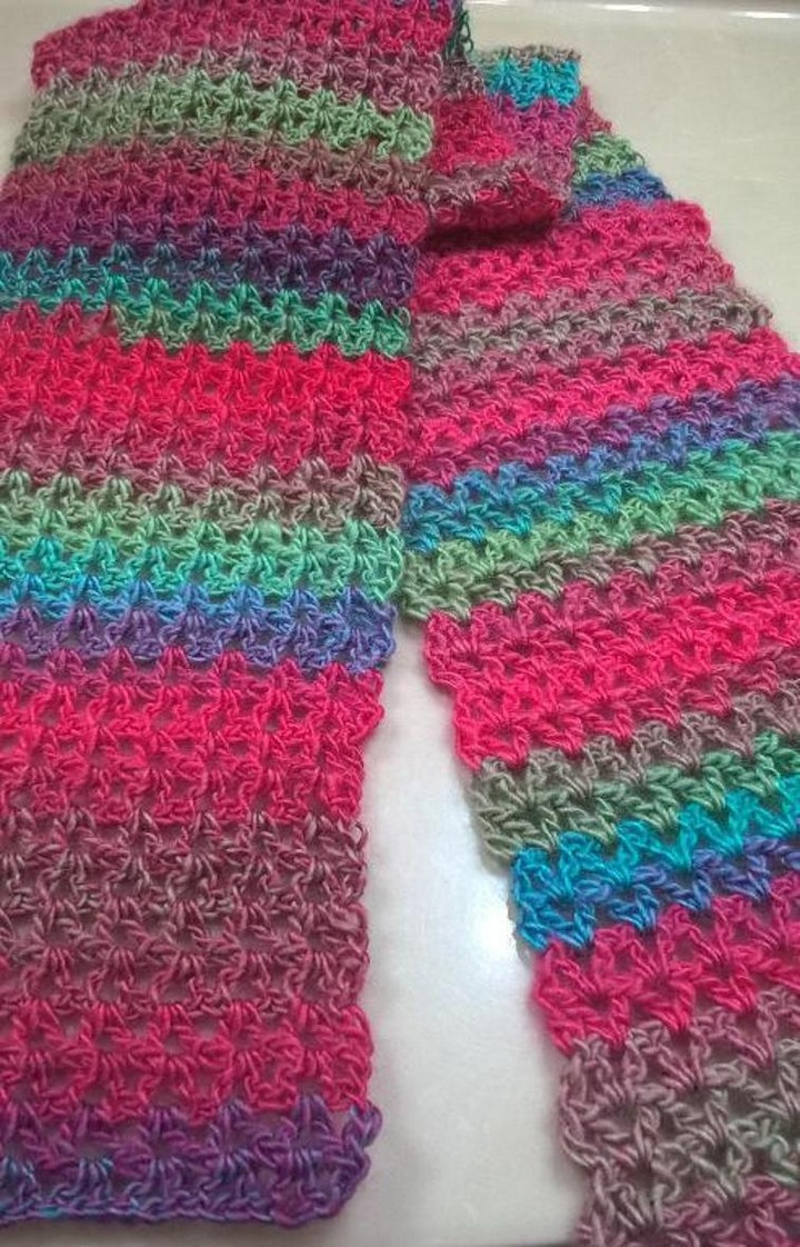 Easy Rainbow Scarf Ideas
