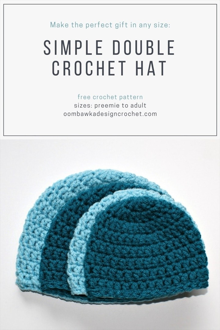 Free Pattern Simple Double Crochet Hat Pattern
