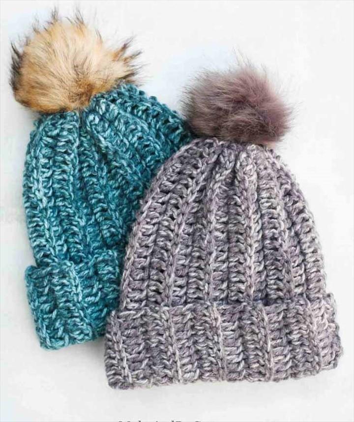 Hour Beanie – Free Crochet Hat Pattern for Beginners