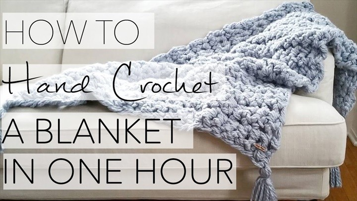 How to Hand Crochet a Blanket in One Hour