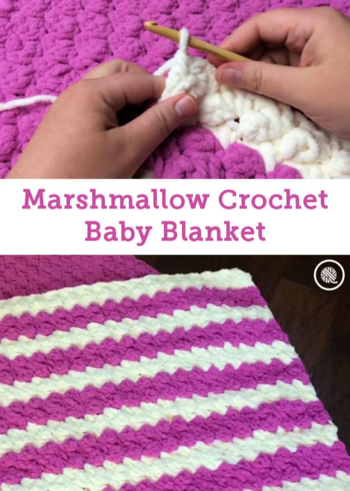 Marshmallow Crochet Baby Blanket Pattern