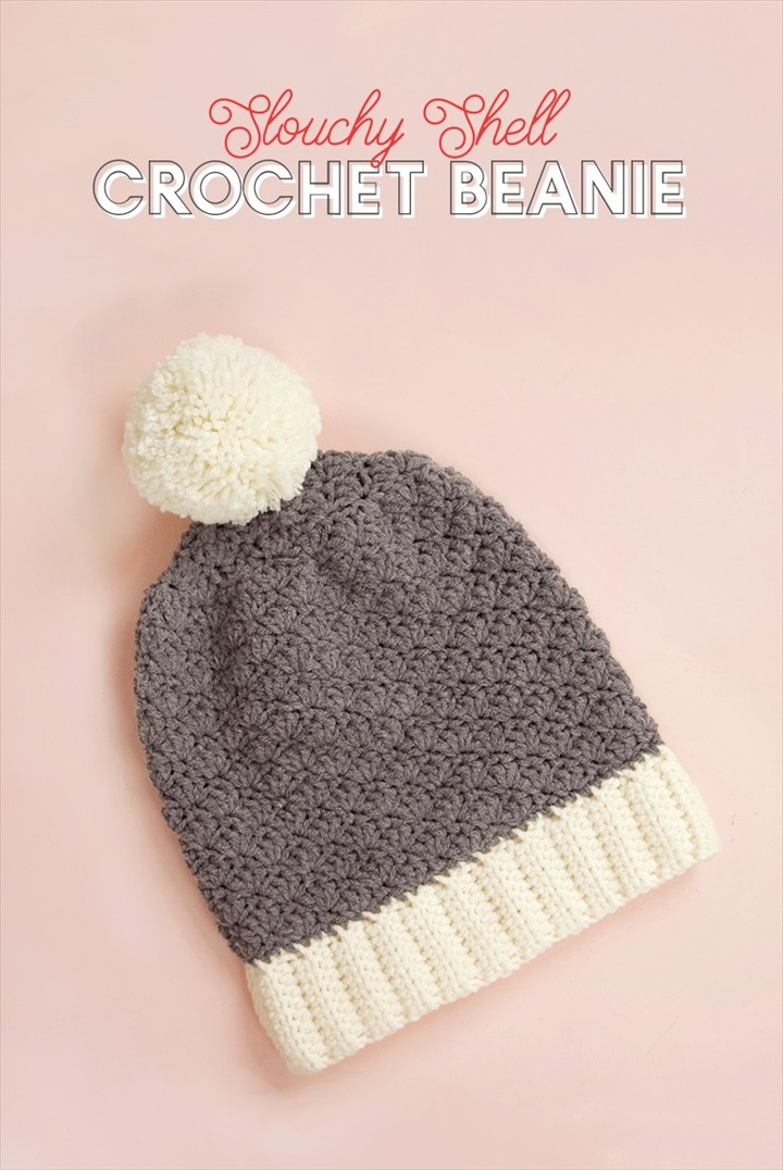Slouchy Shell Crochet Hat Pattern Easy To Make Idea