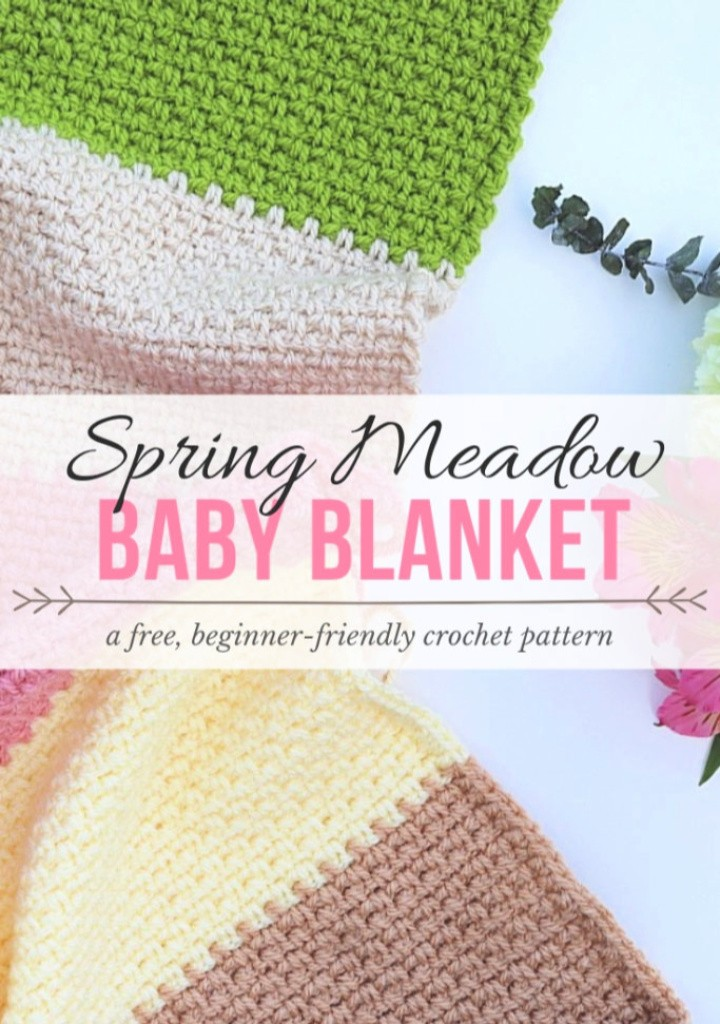 Spring Meadow Baby Blanket Crochet Pattern
