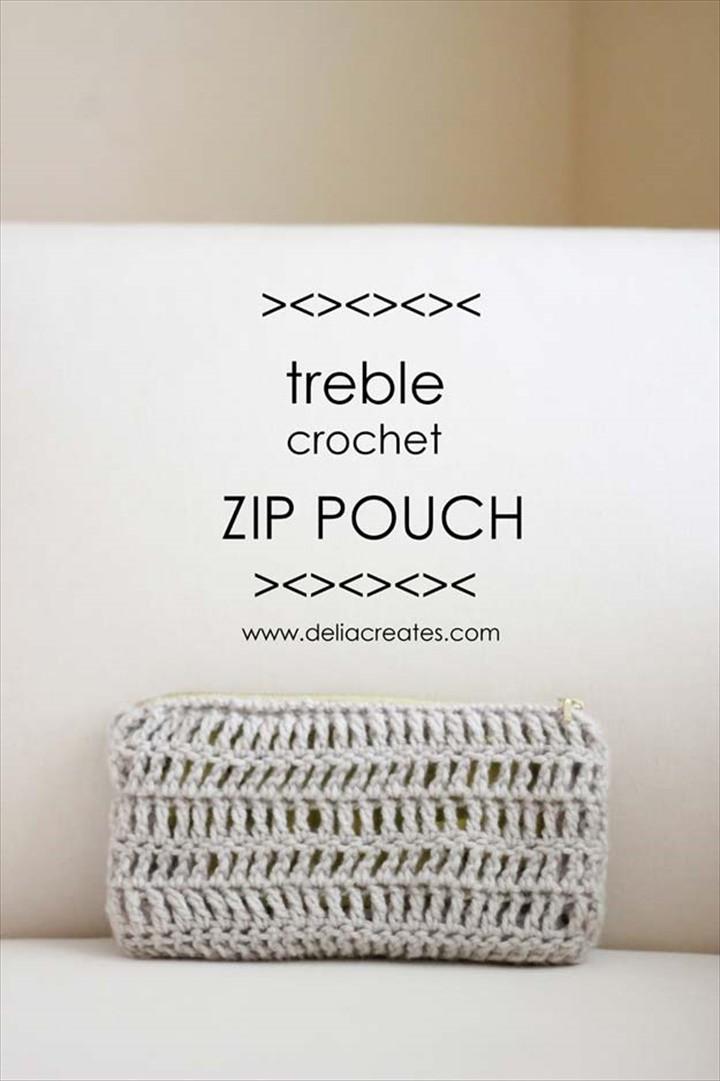 Treble Crochet Zip Pouch Best Free Patterns