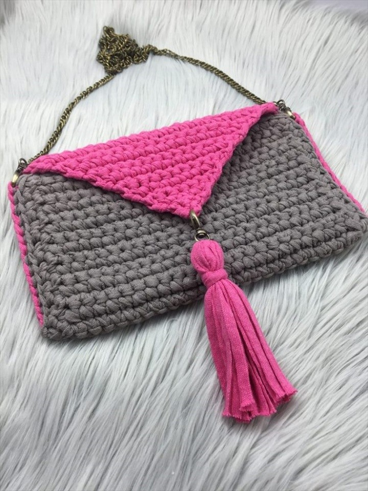 Unique Beginner Friendly Crochet Purse