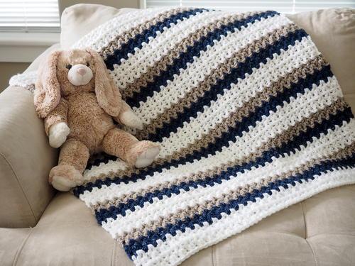 15 Easy Crochet Baby Blanket Free Patterns