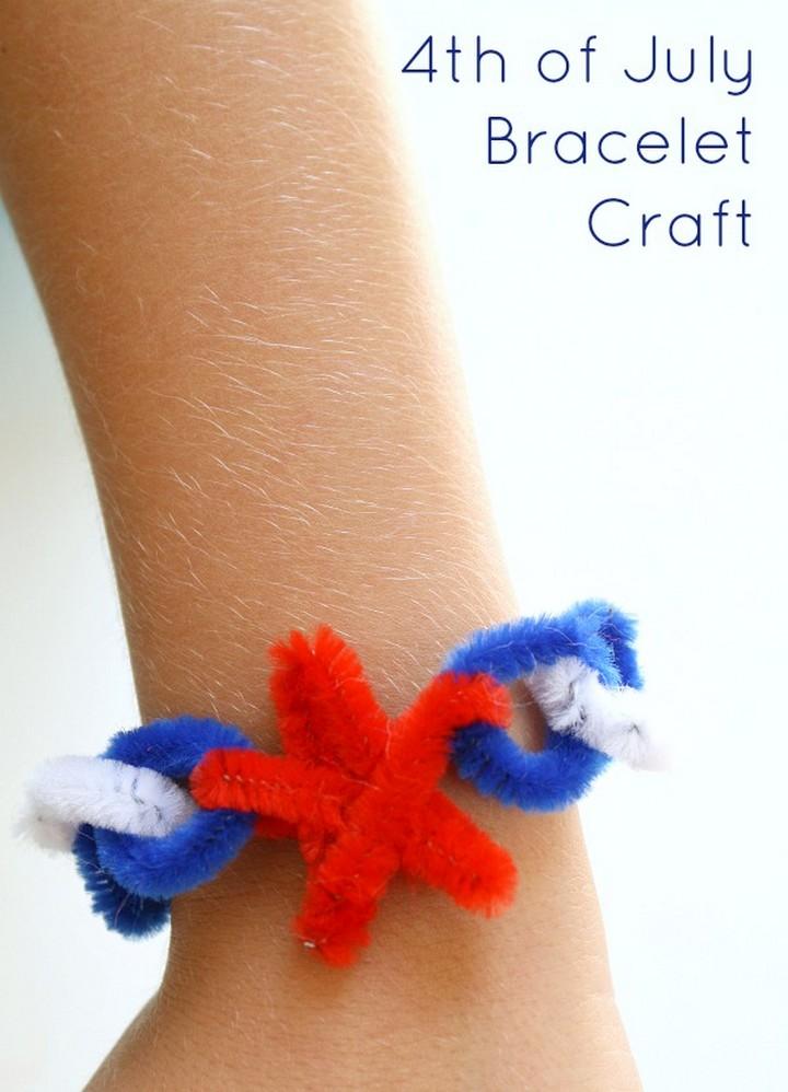 4th of July Craft Bracelet for Kids