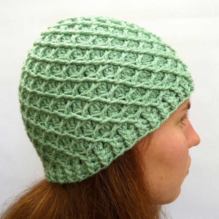 A Girls Best Friend Diamond Knitted Crochet Hat Pattern For Winters