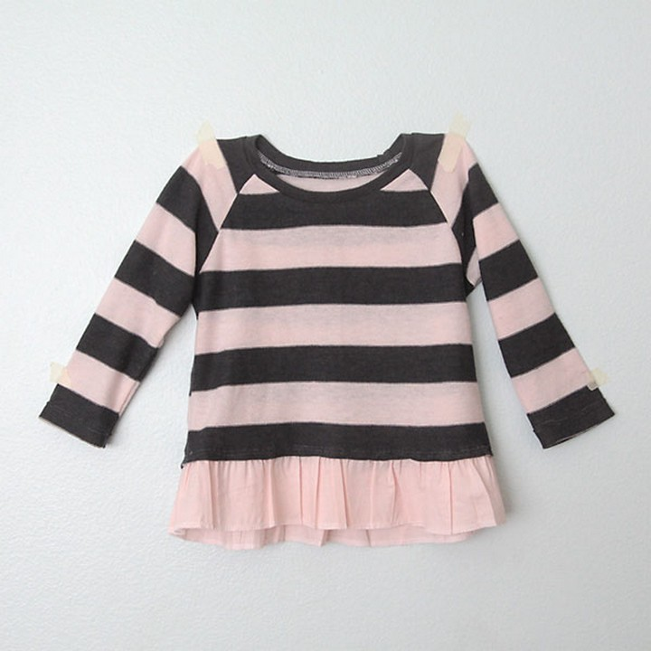 Add Ruffled Hem To a Girls Sweater