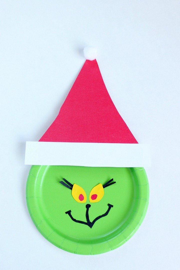 Amazing Grinch Paper Plate Craf