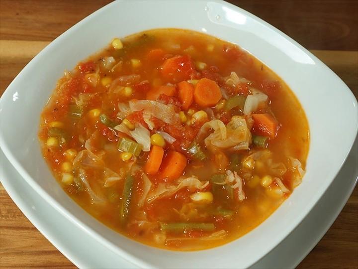 Barley Bean Vegetable Soup Vegan Recipe