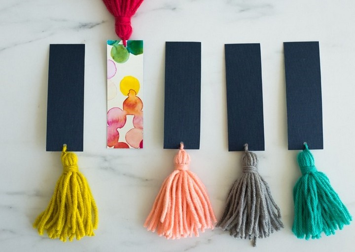 Basic Chineese Tassels Handmade Bookmark Ideas With Paper