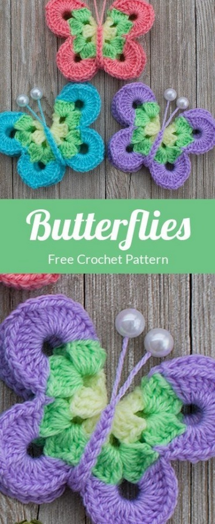 Beautiful Butterflies Free Crochet Patterns
