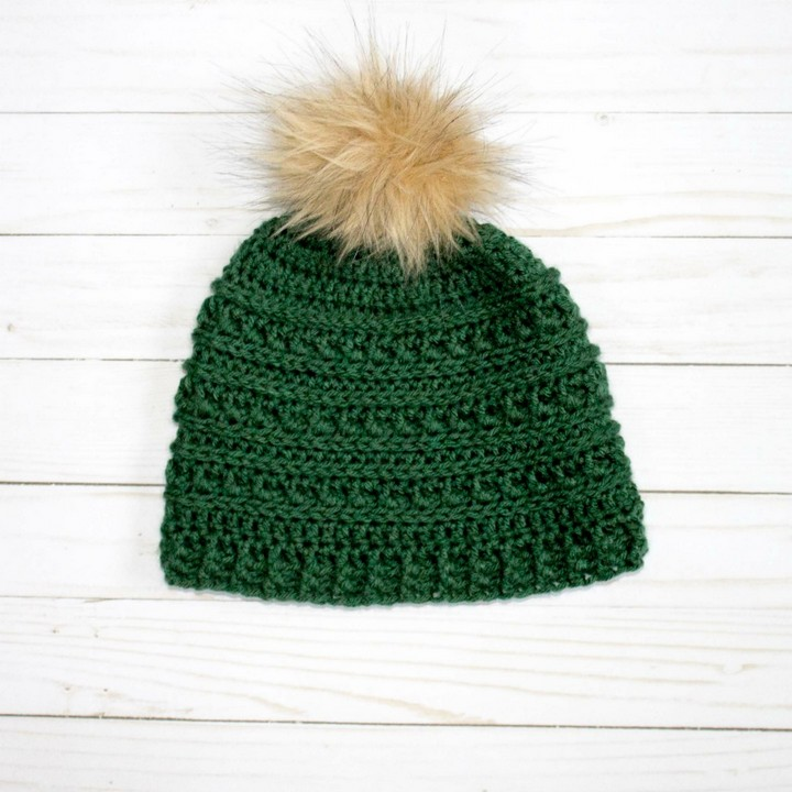 Beautifull Puff Stitch Mountain Ridges Crochet Hat