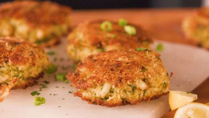 Best Ever Crab Cakes with Green Tomato Slaw Recipe