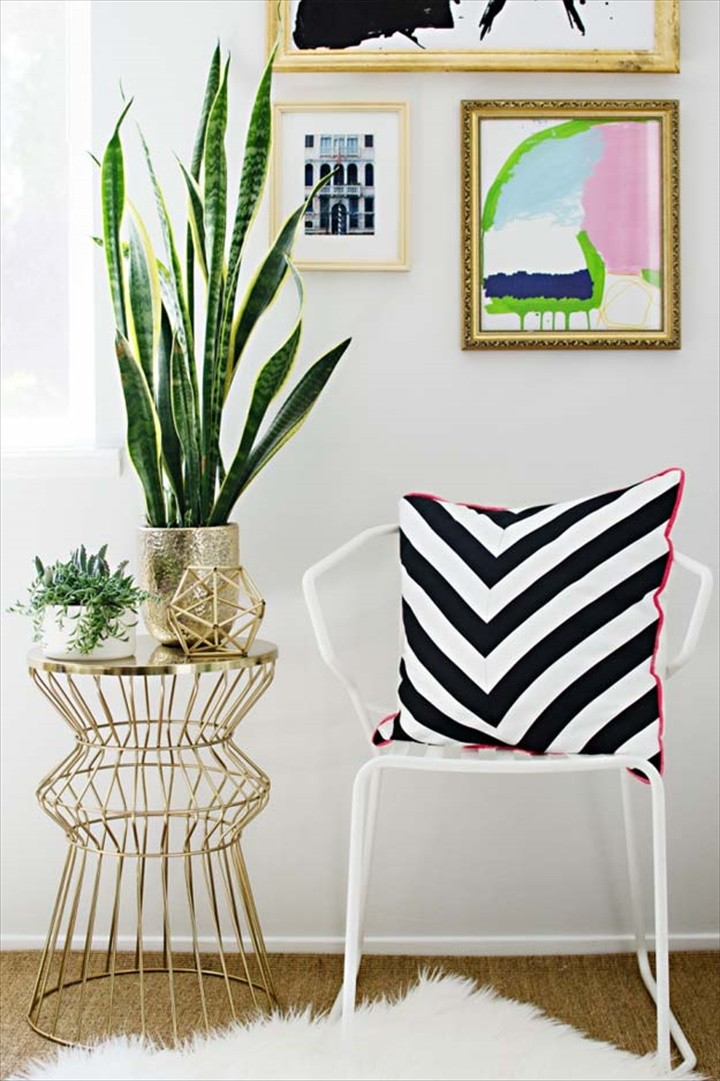 Black and White Chevron Pillow For Home Decor