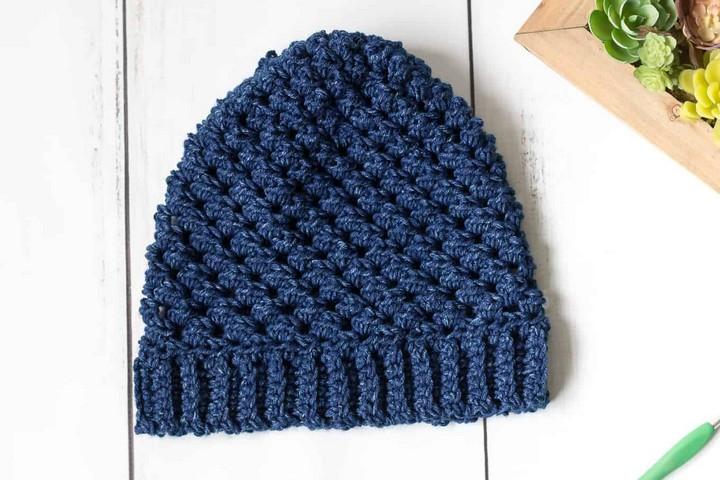 Blue Crochet Hat Crochet Pattern
