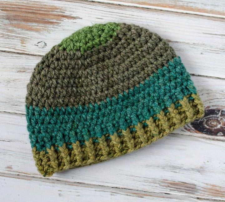 Brawny Beanie Mens Crochet Hat Tutorial