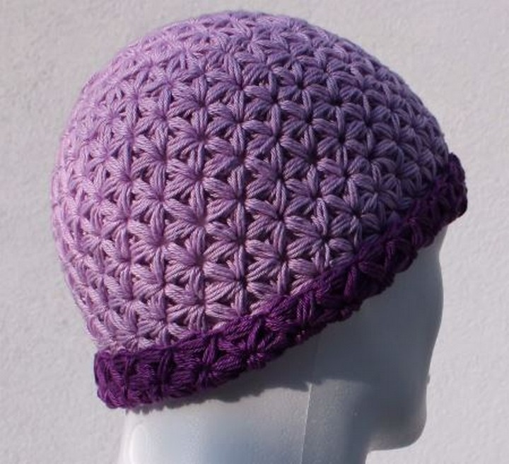 Caron Pebbed Free Crochet Hat Pattern For Girls
