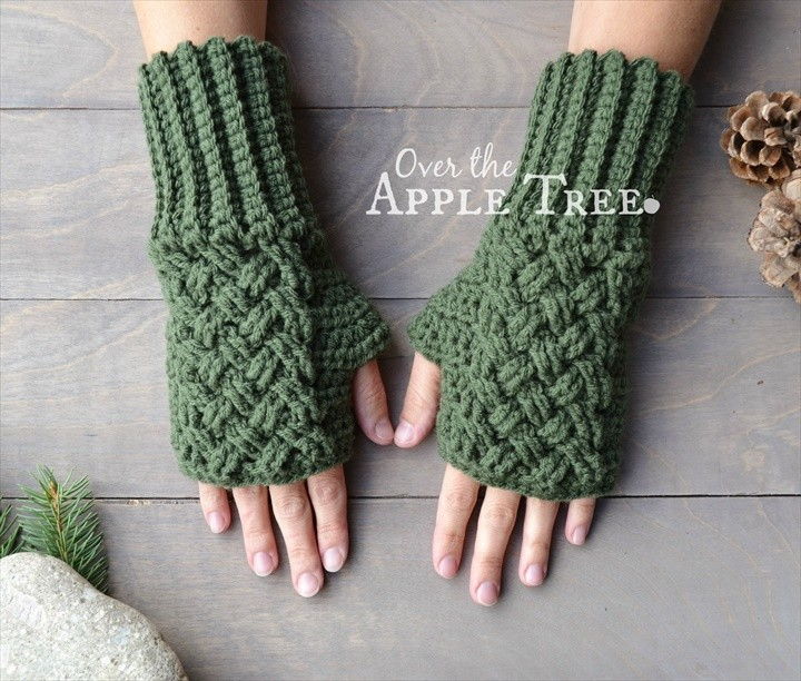 11 Easy Crochet Gloves Pattern Fingerless