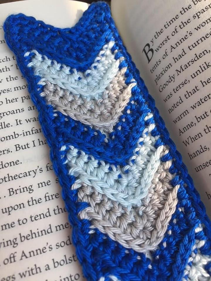 Chevron Bookmark A Free Crochet Pattern