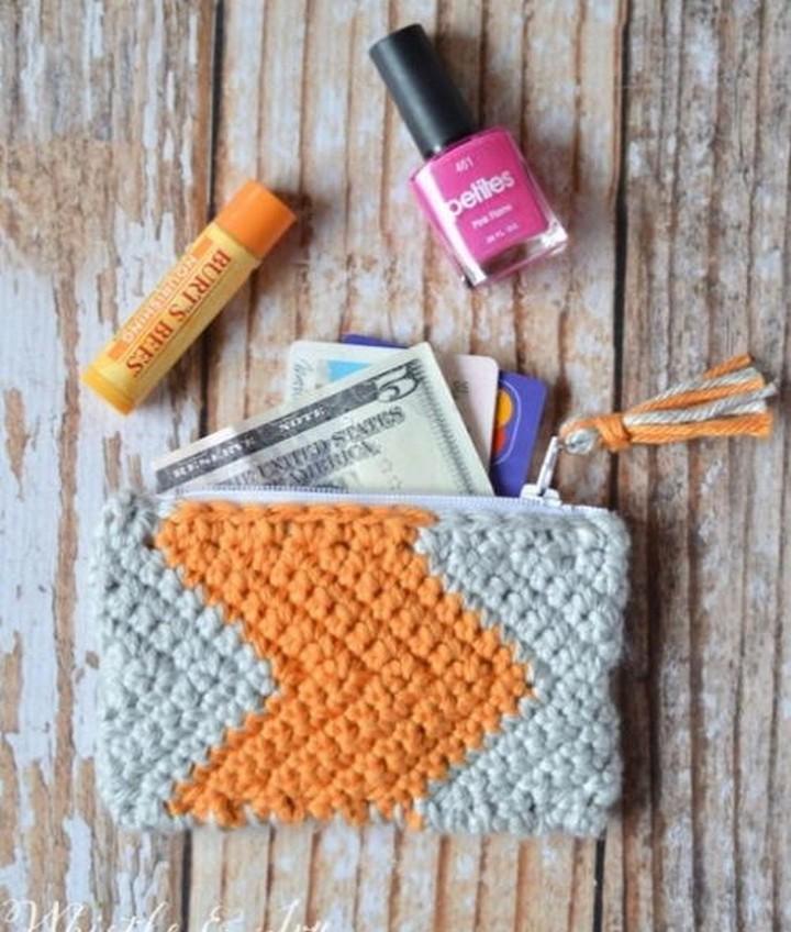 Chevron Crochet Pouch Pattern
