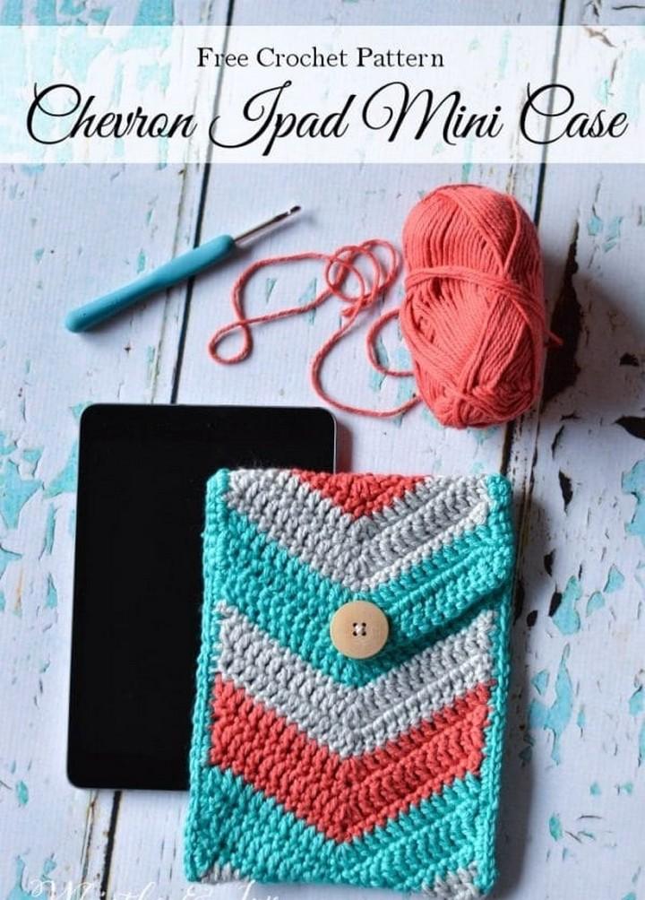 Chevron Crochet Tablet Pouch Crochet Pattern