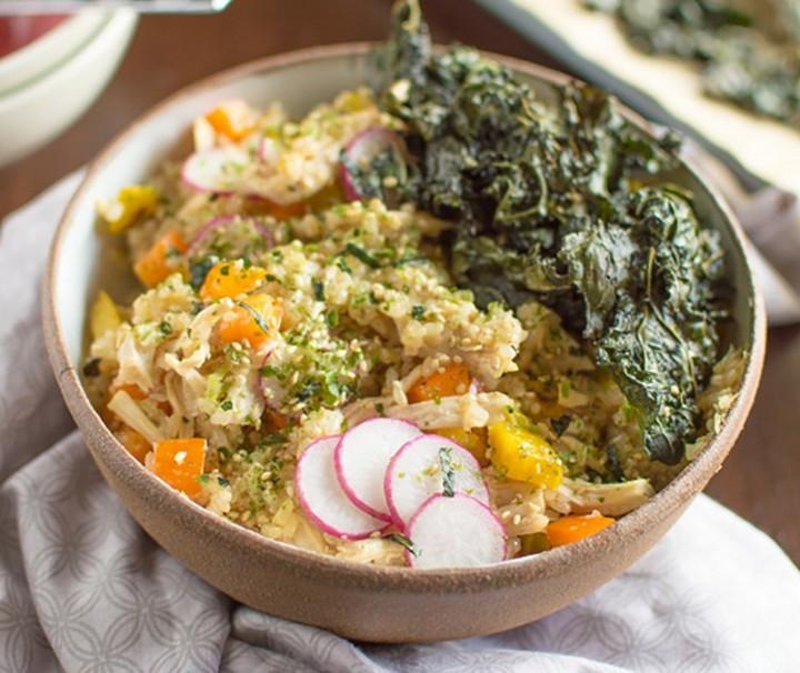 Chicken Kale Rice Bowl