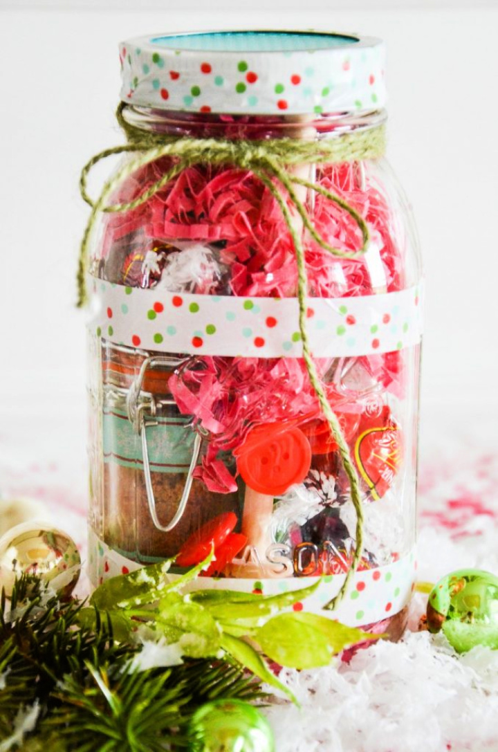 Chirtmas Gift DIY Meson Jar For Your Friends