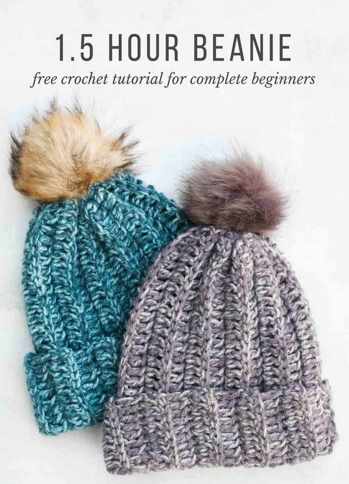 Chunky Seamless Crochet Snowfall Hat In One Hour