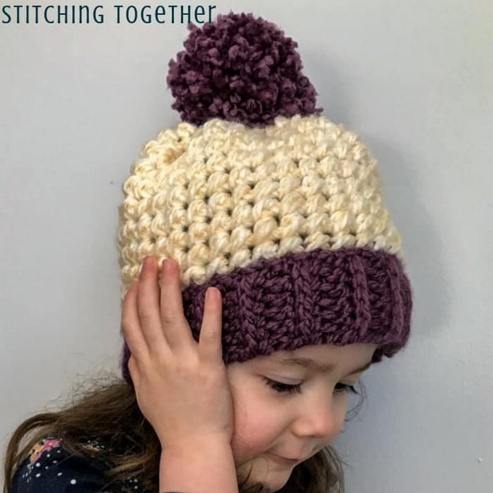 Chunky Yarn Crochet Hat Pattern For Super Cool Babies In Winter