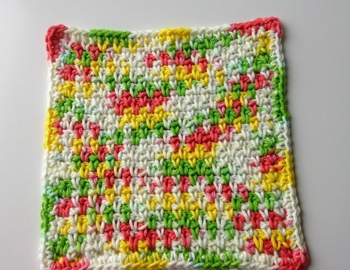Colorful Moss Stich Dishcloths