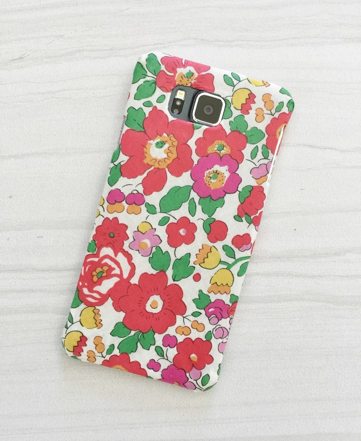 Colorfull DIY Fabric Covered Phone Case