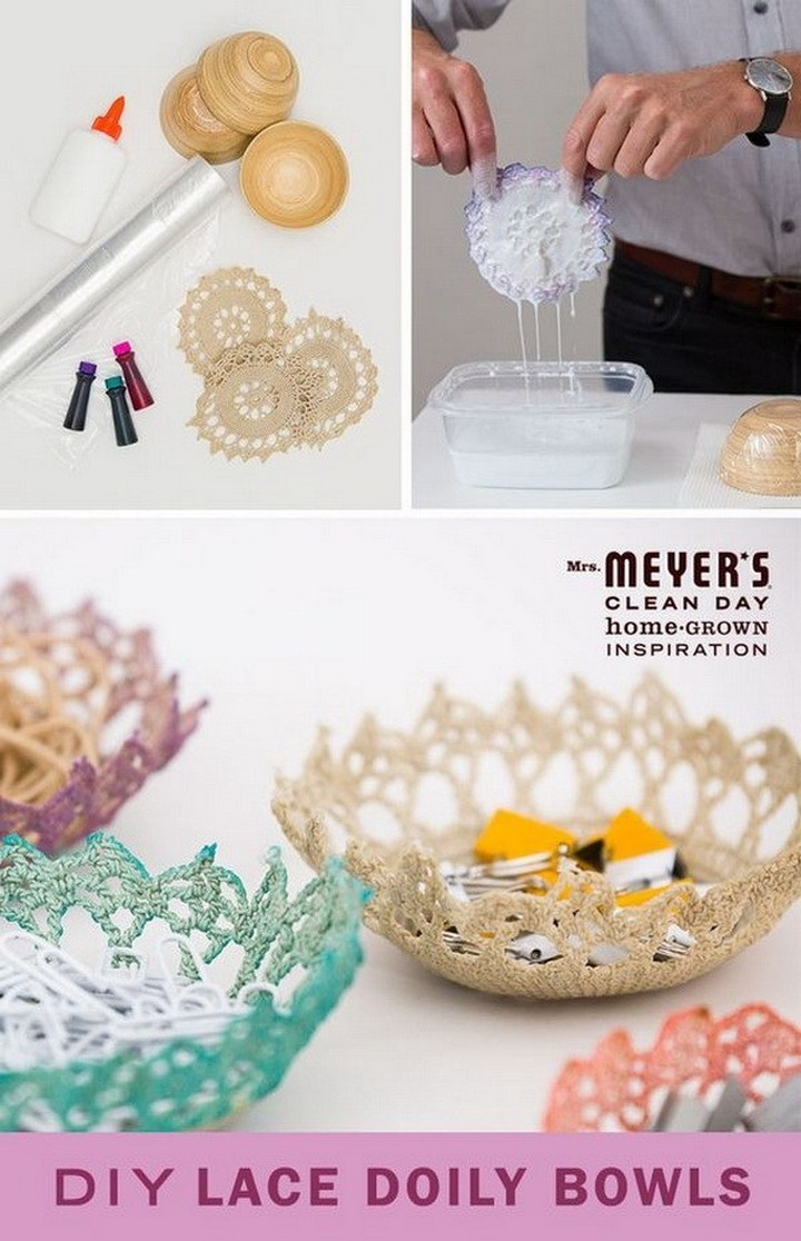 Cool DIY Lace Doily Bowls