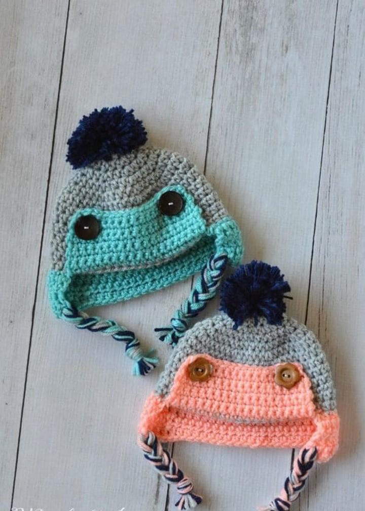 Crochet Baby Trapper Hat Free Crochet Pattern