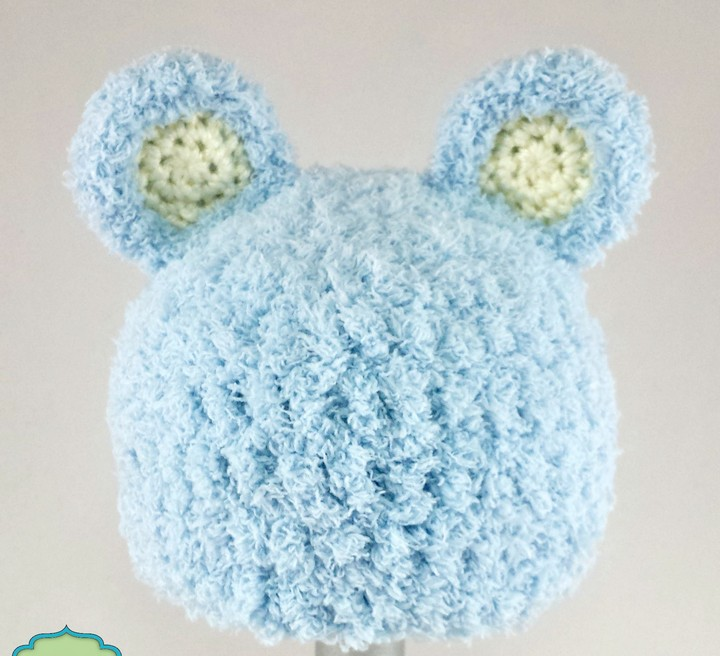 Crochet Bear Hat Pattern For New Born Babies