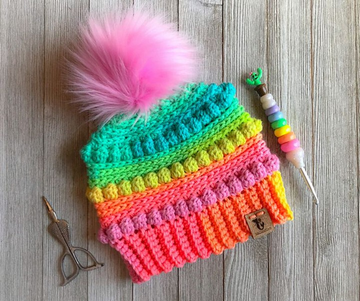 Crochet Bubblegum Free Crochet Hat For Kids