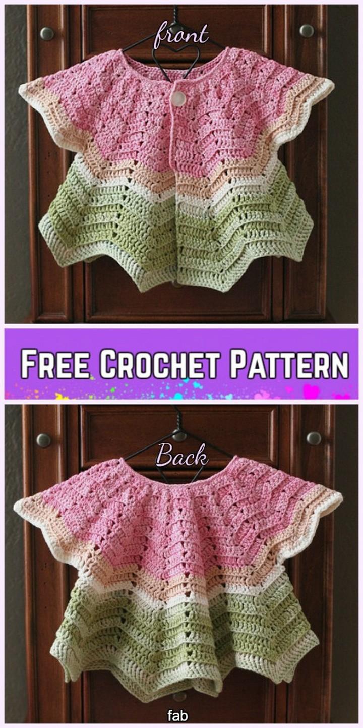 Crochet Chevron Baby Cardigan