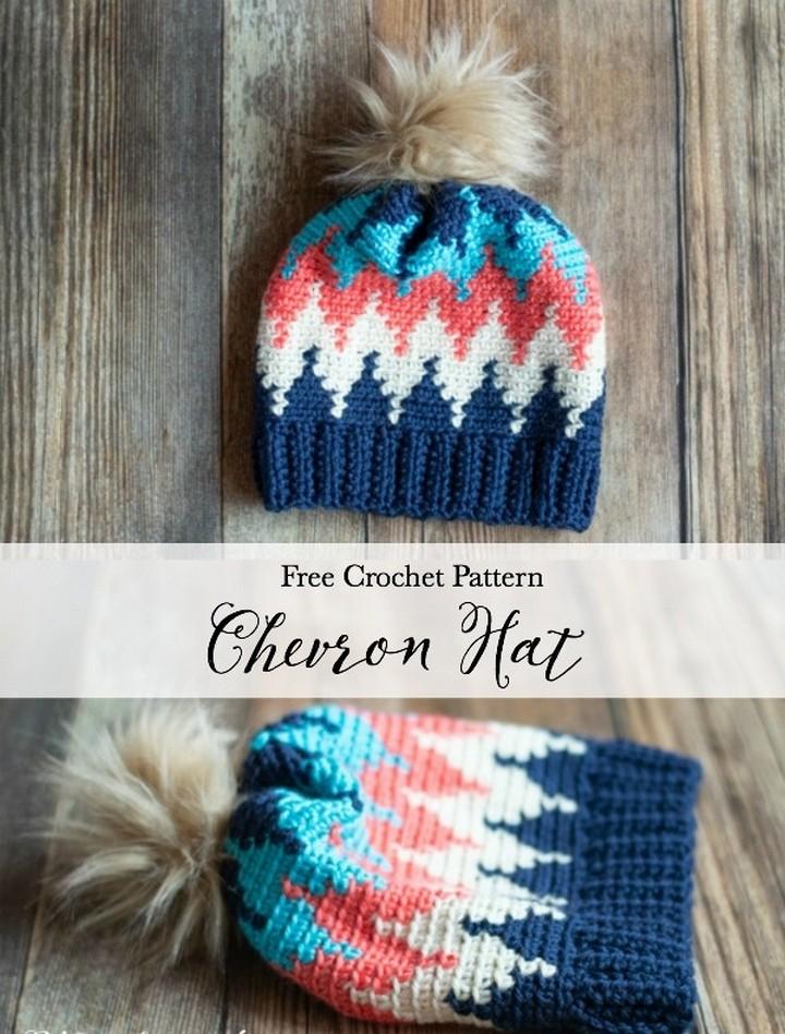 Crochet Chevron Hat Free Crochet Pattern 1