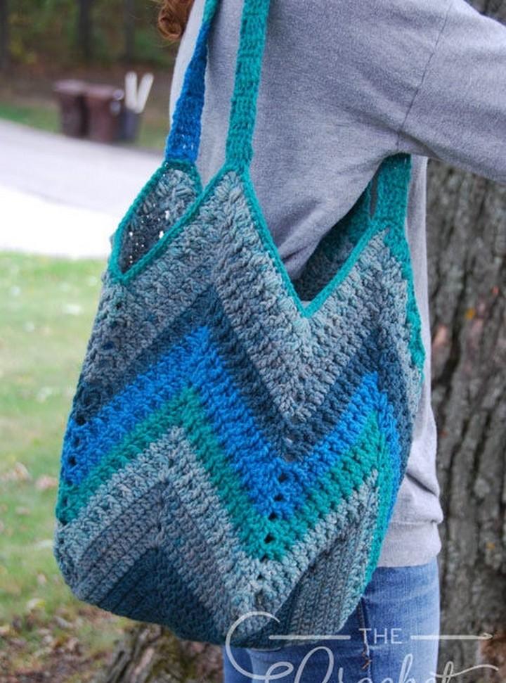 Crochet Chevron One Big Cake Bag