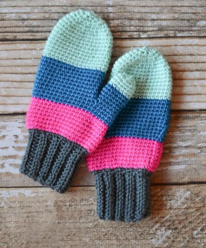 Crochet Mittens Free Crochet Pattern