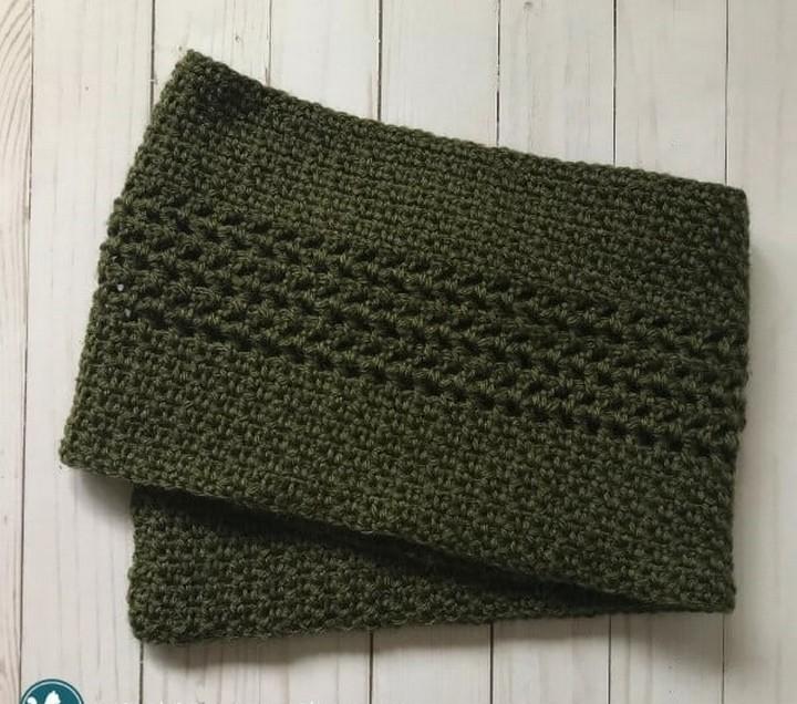 Crochet Moss Stitch Scarf