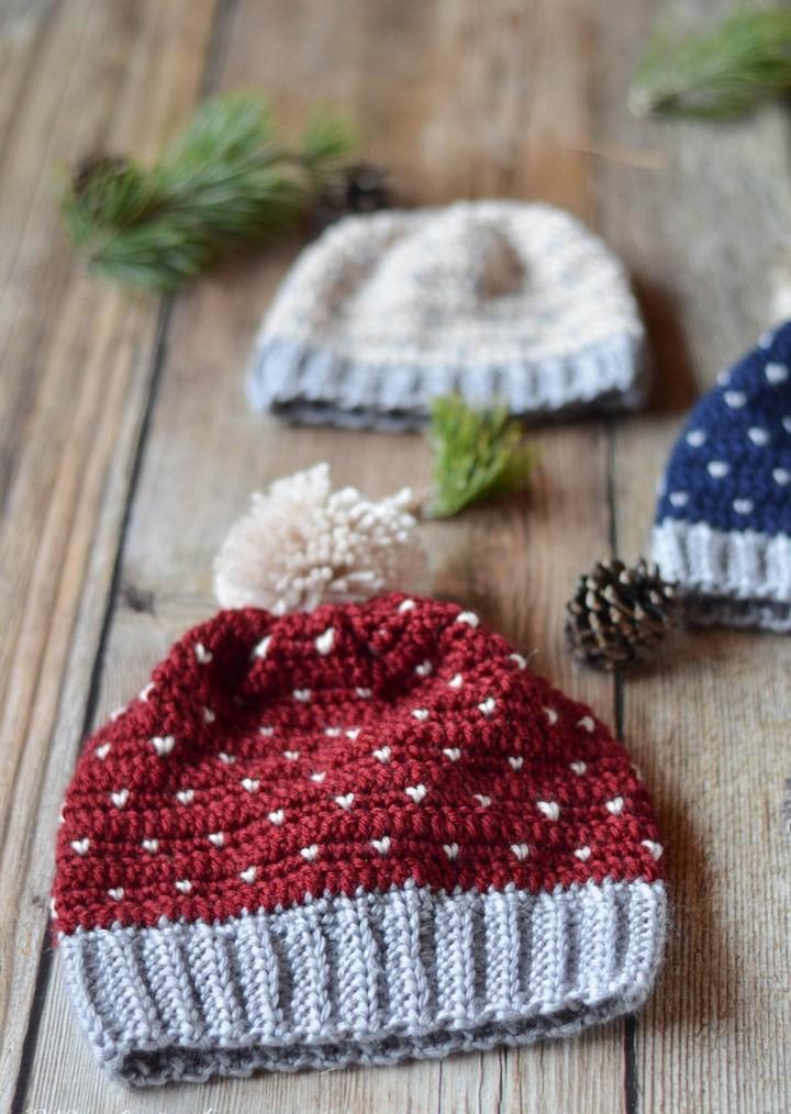 Crochet Snowfall Hat Free Crochet Pattern