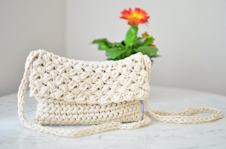 Cross Body Crochet Bag Free Crochet Pattern