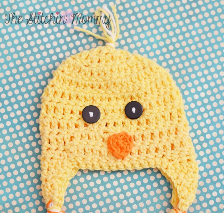 Cute Adorable Spring Chick Crochet Hat For Kids